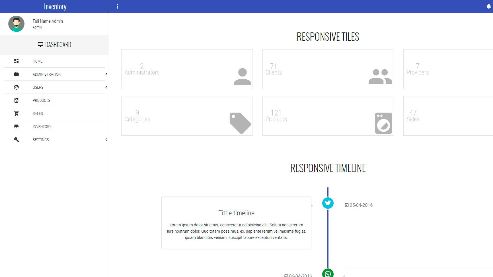 Punto de venta e inventario V1 (admin dashboard)