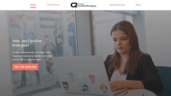 Plantilla para blog personal de Marketing Digital